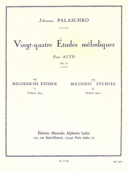 24 Etudes Melodique Opus 77